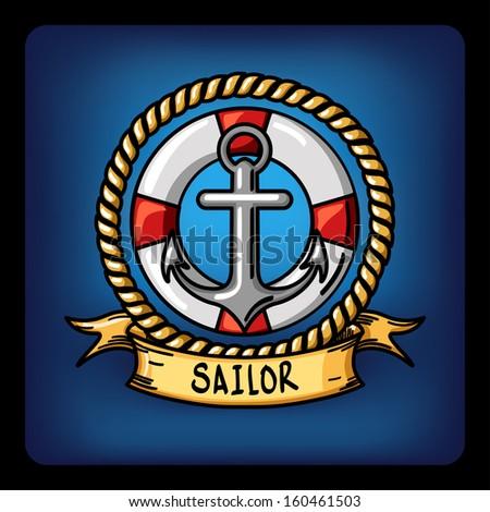 sailor vector Illustration  - stock vector