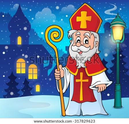 Saint Nicolas theme image 2 - eps10 vector illustration. - stock vector