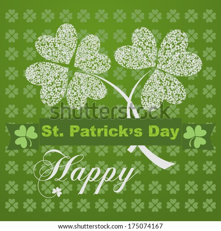Saint Patrick's Day Typographical Background . Vector Version - stock vector