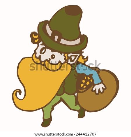 Saint Patrick's Day vector character. - stock vector