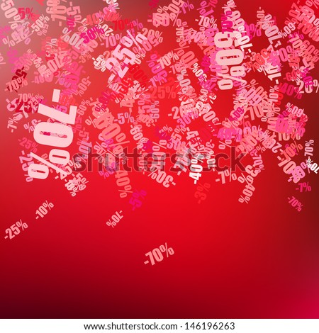 Sale background with percent discount pattern. EPS 10 - stock vector