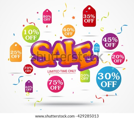 Sale Banner and Best Offer design - stock vector