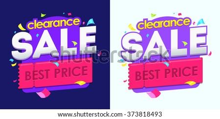 Sale banner, badges, design vector illustration. Badges vector discount - stock vector