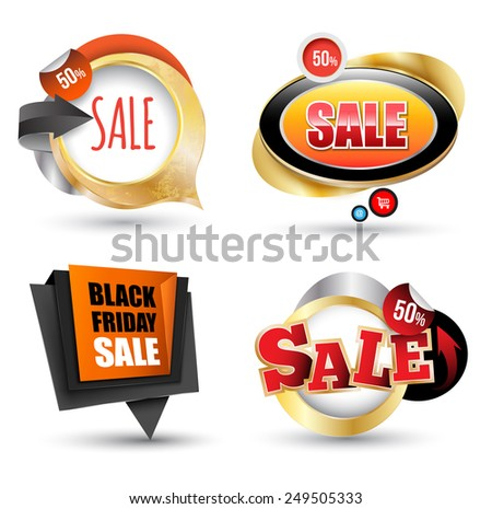 Sale banner set. Vector illustration. Can use element  for promotion. - stock vector