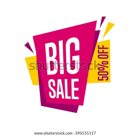 Sale banner vector isolated. Big Sale tag. Special offer. Sale sign. Web sticker. Sale sticker. Sale Sticker template. Advertisement sticker. Big sale sticker. Sale symbol. Simple sticker. Offer. Sale - stock vector