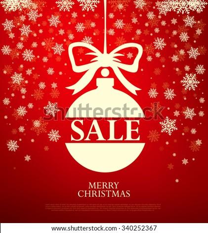 Sale. Christmas ball - stock vector