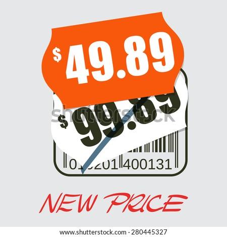 Sale design - new price tag - stock vector