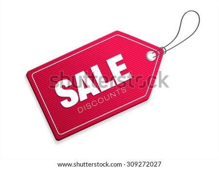 Sale discounts. Vector tag - stock vector