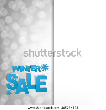 Sale Glitter Poster With Gradient Mesh, Vector Illustration - stock vector