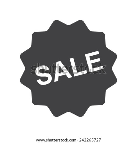 Sale icon, modern flat design - stock vector