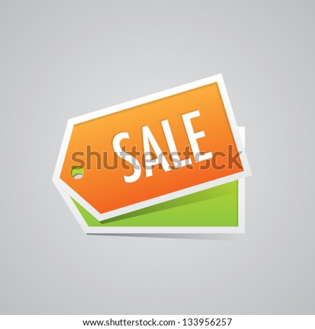 Sale Labels - stock vector