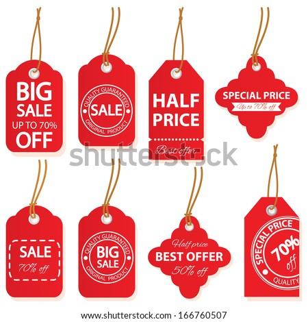 Sale labels set in vector. - stock vector