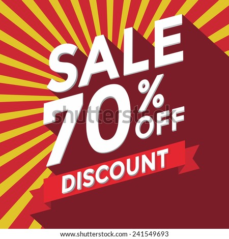 Sale 70% off discount - stock vector