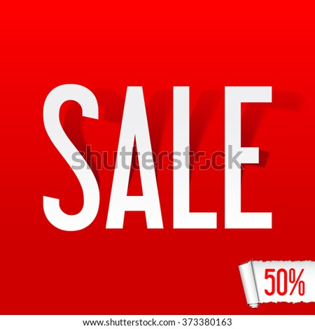 Sale poster  - stock vector