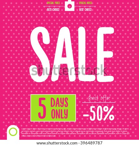 Sale Poster. End of Season, Clearance Sale,vector illustration - stock vector