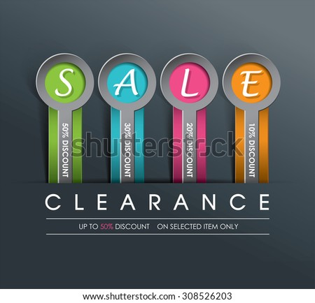 Sale Poster Template - stock vector