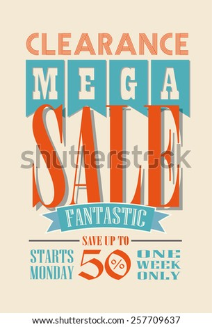 Sale Poster Vector Design - stock vector