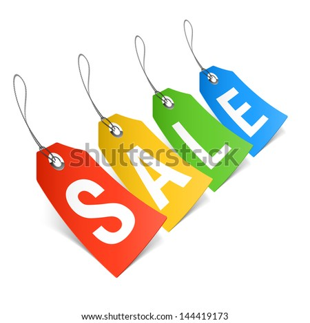 Sale, price tags. Vector. - stock vector