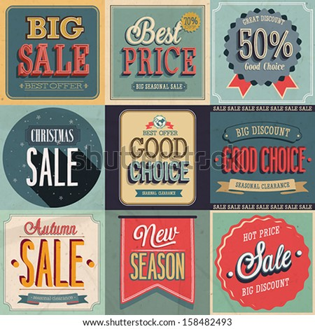 Sale Set. Vector Illustration - stock vector