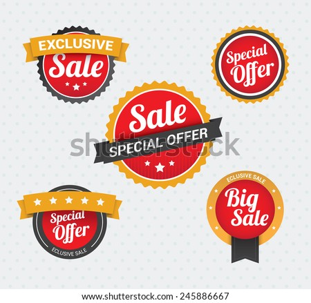Sale & Special Offer Badges - stock vector