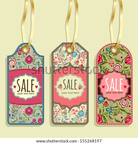 Sale tag collection. Labels store - stock vector