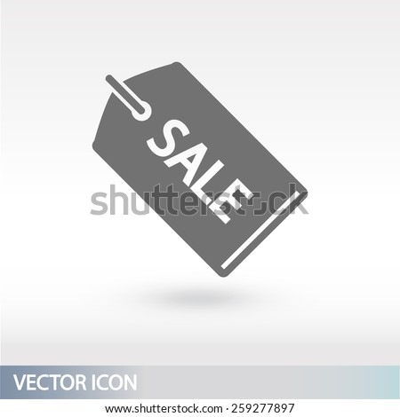 SALE tag icon, vector illustration. Flat design style  - stock vector