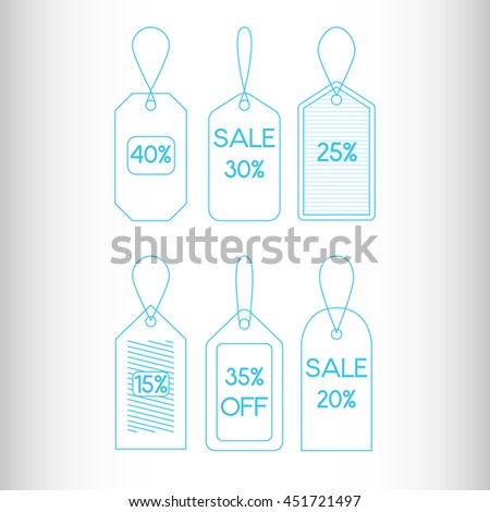 Sale Tags or Labels. Vector icon. - stock vector