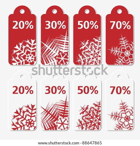 Sale winter tags - stock vector