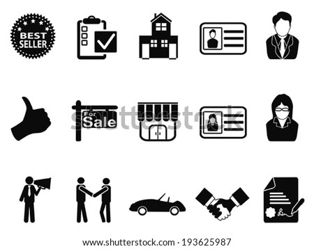 sales icon set - stock vector