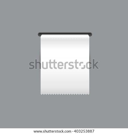 Sales receipt. The printed receipt. Bill atm template. Vector - stock vector