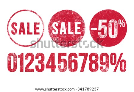 Sales stamps - stock vector