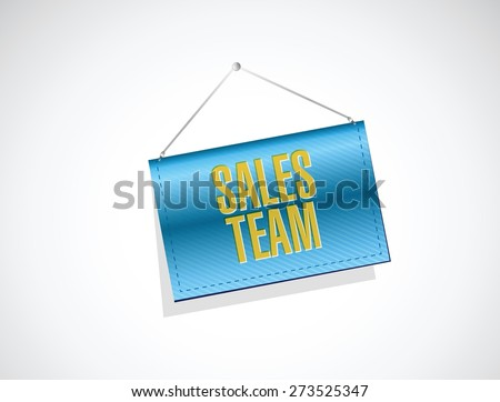 sales team banner sign concept illustration design over white - stock vector