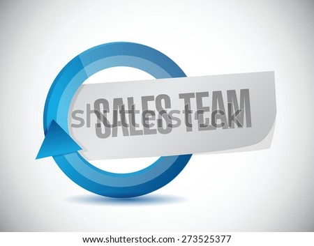 sales team cycle sign concept illustration design over white - stock vector