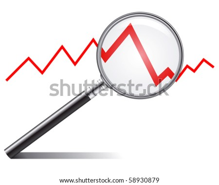 sales trend - stock vector