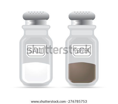 Salt and pepper shaker, vector - stock vector