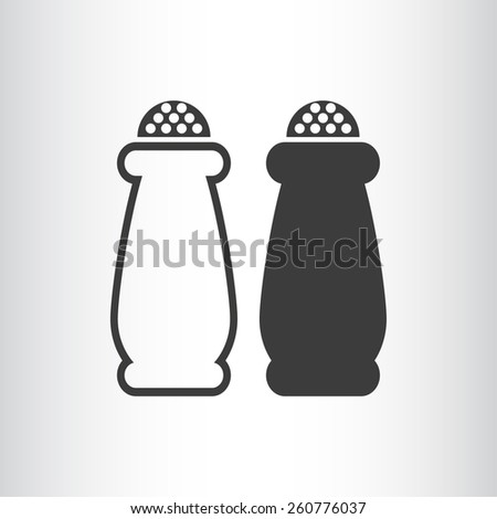Salt and pepper, web icon. vector design - stock vector