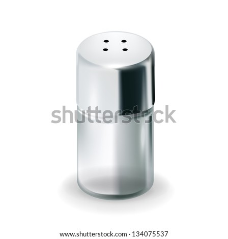 salt glass shaker isolated on white background - stock vector