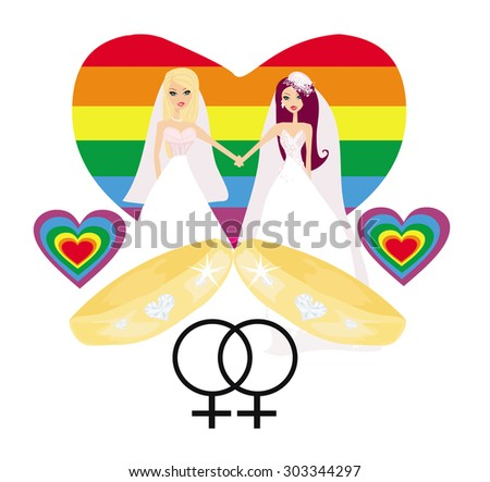 Same sex marriage - stock vector