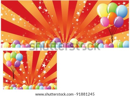 Sample for Festival Banner or Happy Shopping Event  on shiny colorful background - stock vector