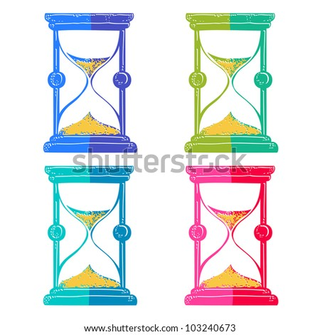 Sand glass, hourglass - stock vector