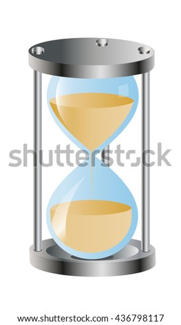 sand, time - stock vector
