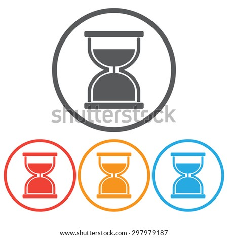 sandglass icon set  - stock vector