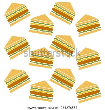 sandwich - restaurant theme - stock vector
