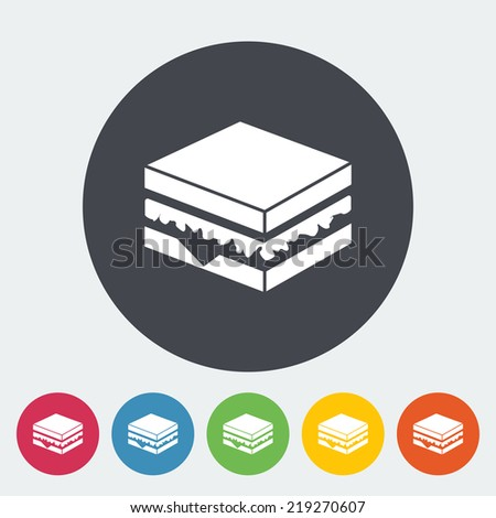 Sandwich. Single flat icon on the circle. Vector illustration. - stock vector