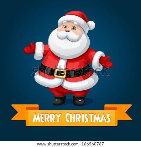 Santa banner - stock vector