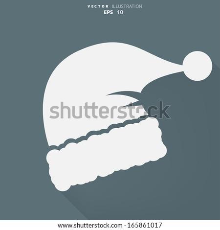 Santa cap icon - stock vector