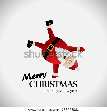 Santa Claus Background - Vector Illustration, Graphic Design Editable For Your Design, Christmas Concept - stock vector