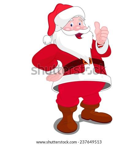 Santa Claus, Christmas  - stock vector