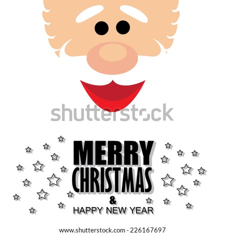christmas & happy new year - cartoon vector graphic - stock vector