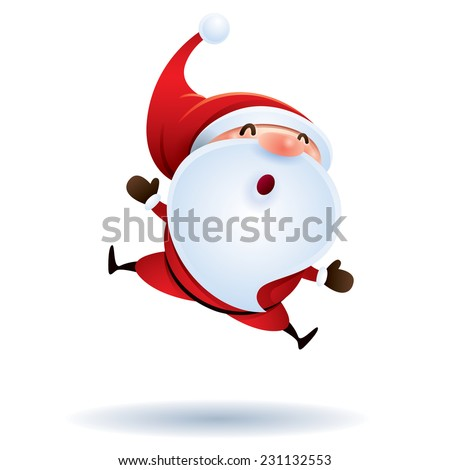 Santa Claus feeling excited - stock vector